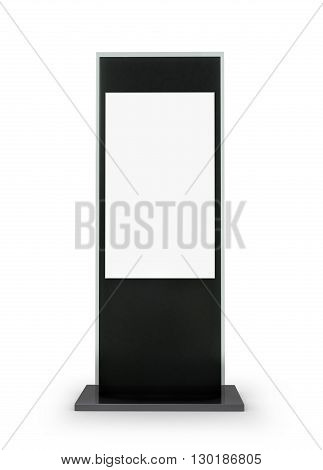 Electronic advertising information stand isolated on white background. 3d illustration