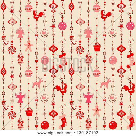 Xmas wallpaper with red pattern