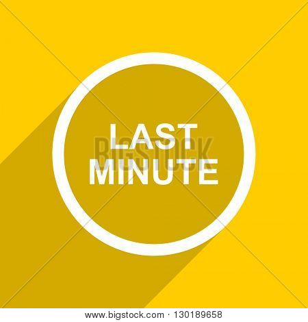 yellow flat design last minute web modern icon for mobile app and internet