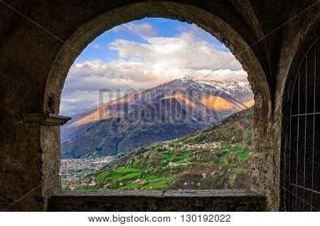 Peglio (Lago di Como) view from Chiesa di S. Eusebio e Vittore