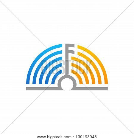 Abstract productive minds music note icon vector illustration isolated on white background.