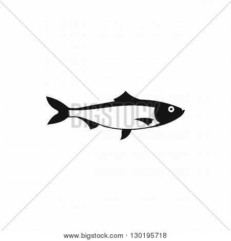 Fresh fish icon in simple style on a white background