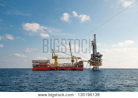 Offshore Oil And Rig Platform