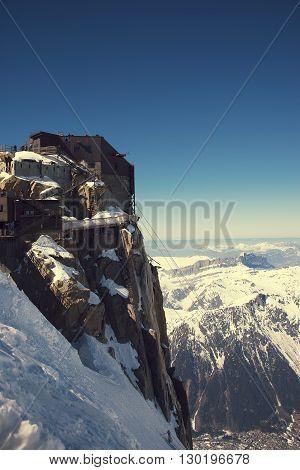 Peak Aiguille du Midi, CHAMONIX, France. Altitude: 3842 meters