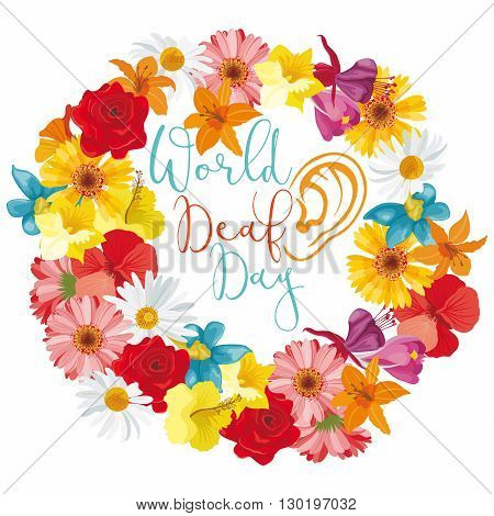 A floral illustration to observe World Deaf Day
