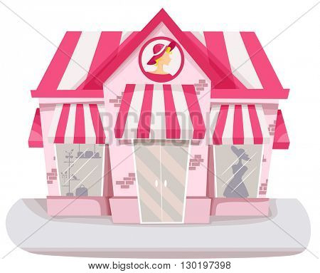 Illustration of a Boutique Selling Clothes and Accessories for Women