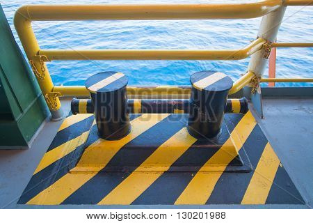 Bollard pier - device for yacht mooring Black SeaOdessaUkraine