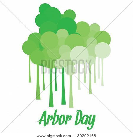 Long stemmed tree like structures with circles for Arbor day