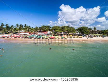 Aerial View of Praia do Forte, Bahia, Brazil