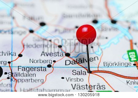 Sala pinned on a map of Sweden