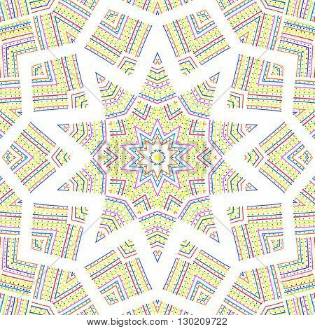 Abstract colorful pattern on white background for design