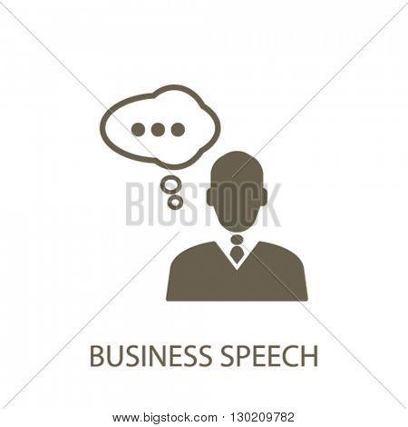 business speech icon
