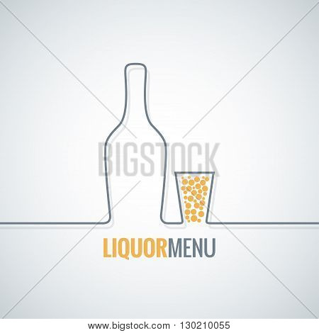 liquor bottle glass shot design vector background 10 eps