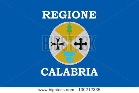 Flag of Calabria known in antiquity as Bruttium or formerly as Italia is a region in Southern Italy forming the toe of the Italian Peninsula.