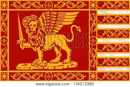 Flag of Venice is a city in northeastern Italy sited on a group of 117 small islands separated by canals and linked by bridges