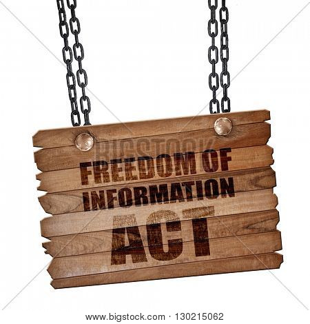 freedom of information act, 3D rendering, wooden board on a grun