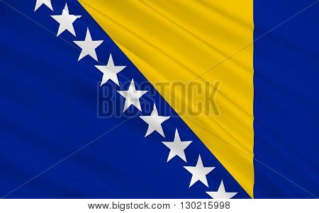 Flag of Bosnia is a country in Southeastern Europe located on the Balkan Peninsula