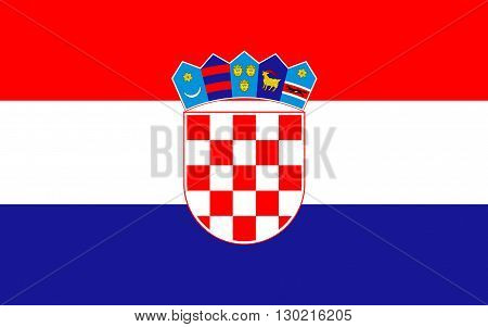 Flag of Croatia officially the Republic of Croatia is a sovereign state at the crossroads of Central Europe Southeast Europe and the Mediterranean. Its capital city is Zagreb