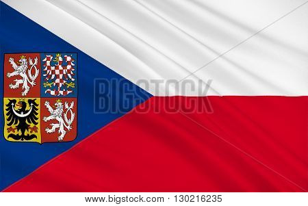 Flag of Czech Republic is a nation state in Central Europe bordered by Germany to the west Austria to the south Slovakia to the east and Poland to the northeast