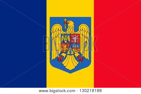 Flag of Romania is a republic in Southeast Europe