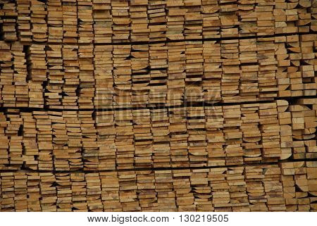 Wooden stack at the furniture industry zone of Ankara