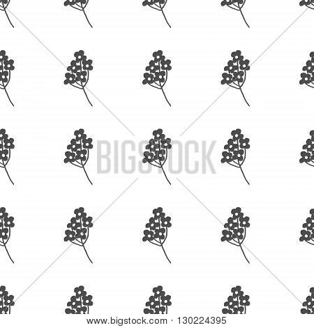 Hand drawn black and white floral seamless pattern