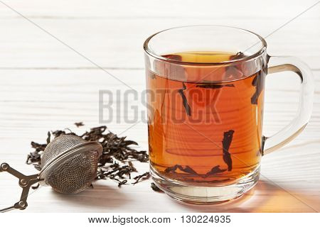 Cup Of Tea And Tea-strainer