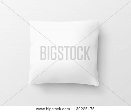 Blank white pillow case design mockup isolated clipping path 3d illustration. Clear pillowslip cover mock up template. Bed cotton pillow shell ready for texture pattern. Clean pillow empty sham.
