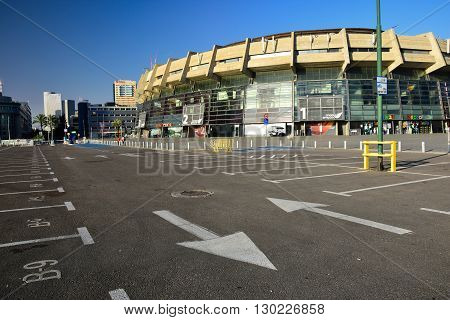TEL AVIV, ISRAEL - MAY 26: View to one of urban stadiums called