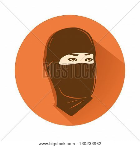 This is an illustration of ninja head symbol