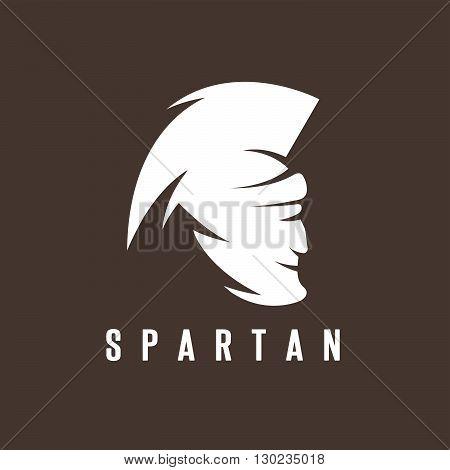 Old Vintage Antiques Spartan Warrior Vector Design Template