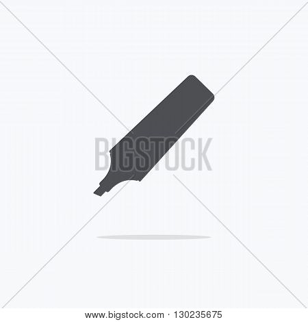 Marker. Marker on a light background. Icon marker. Vector illustration.