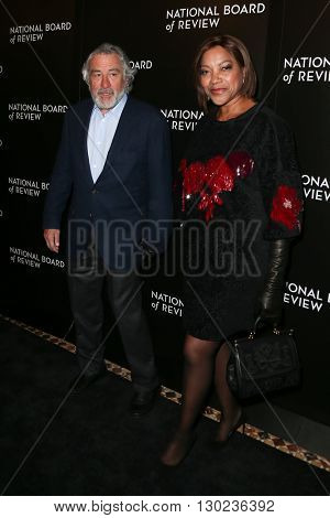 NEW YORK-JAN 5: Actor Robert De Niro (L) and wife Grace Hightower attend the 2015 National Board of Review Gala at Cipriani 42nd Street on January 5, 2016 in New York City.