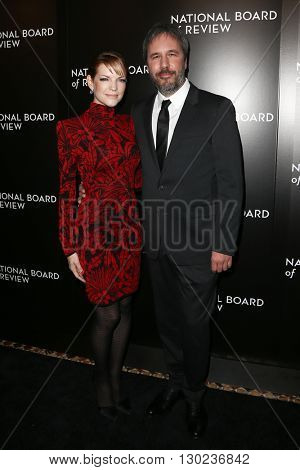 NEW YORK-JAN 5: Director Denis Villeneuve (R) and guest attend the 2015 National Board of Review Gala at Cipriani 42nd Street on January 5, 2016 in New York City.