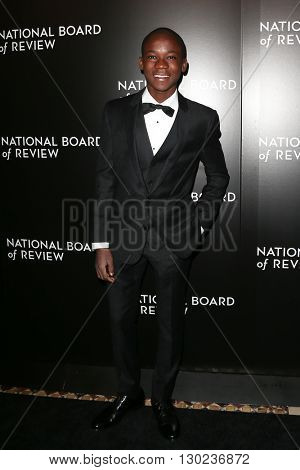 NEW YORK-JAN 5: Actor Abraham Attah attends the 2015 National Board of Review Gala at Cipriani 42nd Street on January 5, 2016 in New York City.