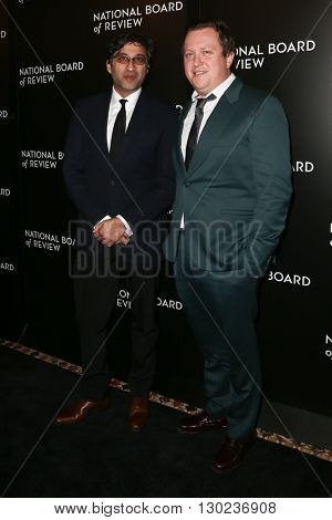 NEW YORK-JAN 5: Director Asif Kapadia (L) and Amy Winhouse's former manager Nick Shymansky attend the 2015 National Board of Review Gala at Cipriani 42nd Street on January 5, 2016 in New York City.