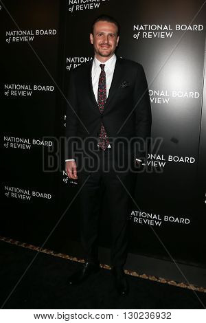 NEW YORK-JAN 5: Actor Jason Segel attends the 2015 National Board of Review Gala at Cipriani 42nd Street on January 5, 2016 in New York City.