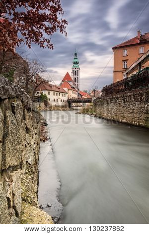 St. Jost church medieval town Cesky Krumlov (UNESCO) South Bohemia Czech republic Europe