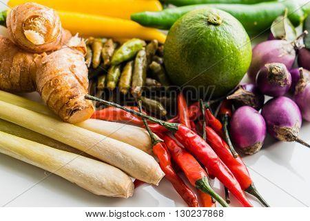 Traditional Thai food cuisine Herb ingredient