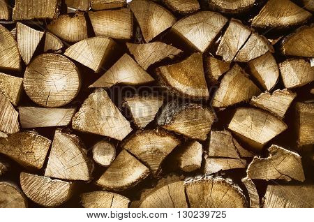 Photo of the Firewood Natural Beige Background