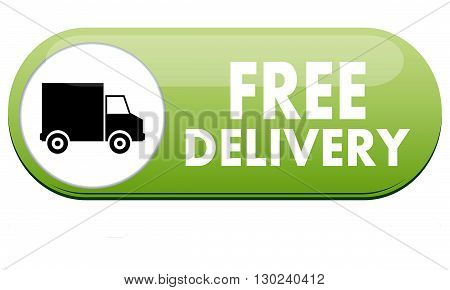 Free Delivery logo for online shopping or order