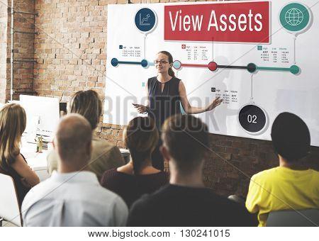 View Assets Property Estate Value Financial Concept