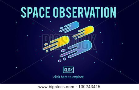 Space Observation Travel Astronomy Exploration Concept