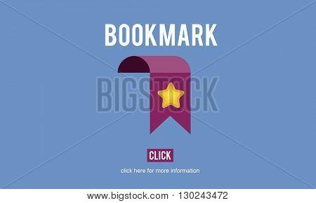 Bookmark Favorites Homepage Webpage Concept