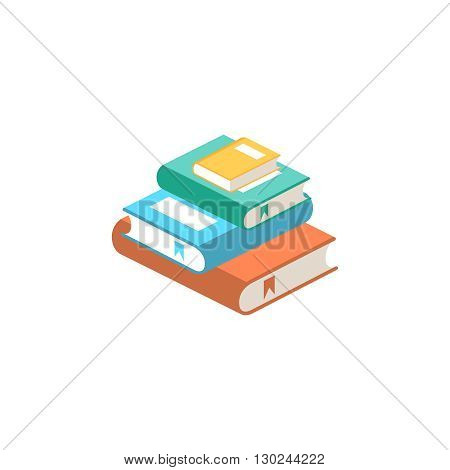 Stack of books vector illustration. Pile of books. Stack of books isolated from background. Pile of books icon in flat style. Stack of books icon. Pile of colored books.