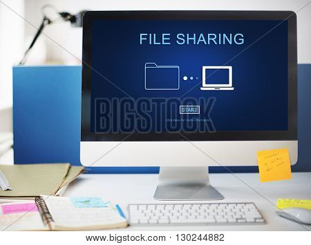 File Sharing Computer Data Digital Document Concept