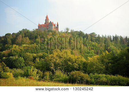 Beautiful castle in the Czech Republic - Bouzov