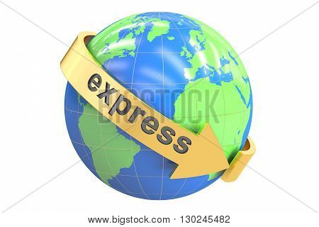 Express concept 3D rendering isolated on white background