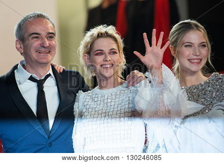 S Bouaziz, O. Assayas,  Kristen Stewart, Nora von Waldstaetten, A. Danielsen Lie,  'Personal Shopper' premiere at the 69th Festival de Cannes. May 17, 2016  Cannes, France