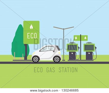 Vector Eco Concept Illustration, Flat Eco Design